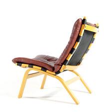 Retro Vintage Danish Modern Farstrup Leather Lounge Easy Chair Armchair 60s 70s