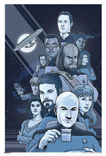Star Trek The Next Generation B/W 50th Anniversary TV Show Poster 13x19 inch