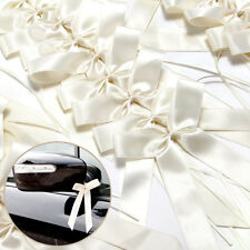 Hot 50PCS Pure White Ribbon Bows best for/Car Decorations Wedding Party UK