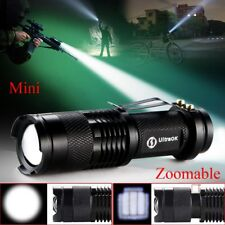 WOW Adjustable Focus CREE Q5 LED 1200 Lumens Bright Mini Flashlight Torch AA