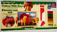 Fisher Price Colour With Yarn Set Vintage 1980's Art's & Crafts Kit Kids Toy