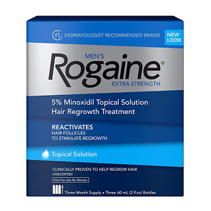Men's Rogaine Extra Strength 5% Minoxidil Topical Solution for Hair Loss and Hai