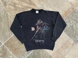 Vintage Denver Broncos Football Sweatshirt, Size Large