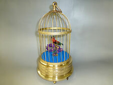 VINTAGE GERMAN K.G. SINGING BIRD CAGE AUTOMATON MUSIC BOX RESTORED (WATCH VIDEO)