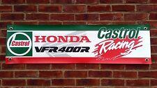 BR62 CASTROL HONDA RACING BANNER VFR400R NC30 CLASSIC RACE GARAGE WORKSHOP SIGN