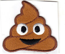 """EMOJIS - POO  (2"""" X 2"""") - IRON ON OR STICK ON PATCH - EXPRESSIONS"""