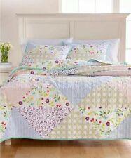 Martha Stewart 🌻 Pergola Patchwork MULTI COLOR 100% Cotton King Quilt NWT $260