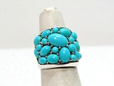 Sleeping Beauty Turquoise Bold Cluster Design Sterling Ring  Sz 5