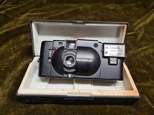 Olympus XA F=35mm Compact Film Camera + A11 Flash + Original Case
