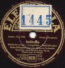 Joya Sherrill + Kay Davis  mit Duke Ellington Orchester 1945  : Solitude