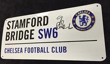 Gianfranco ZOLA Autographed Metal Street Sign AFTAL COA Stamford Bridge CHELSEA