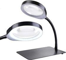 """Lupenlampe mit LED-Tageslicht,Lupe,Lampe,Tischlupe 10-fache Vergrößerung,5"""" Zoll"""