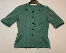 "Vintage 40s 50s Girl Scout Leader Uniform Green Skirt Suit Size S 38 25"" Waist"