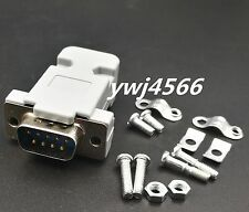 500Set Serial RS232 DB9 9pin Male Assembly Solder Plug Connector with Shell