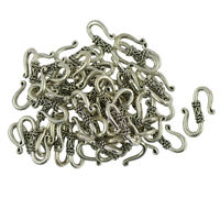 50pcs Tibetan Silver S Shape Hook Clasp Necklace Clasp for Jewelry Making
