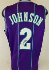 7036063a9 Larry Johnson Firmado Charlotte Hornets Jersey (JSA)  1 en general Pick  1991 borrador