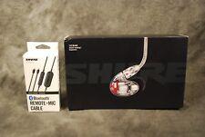 Shure SE846CL SE846 In Ear Monitors Earphones NEW Dealer Clear BT Bluetooth