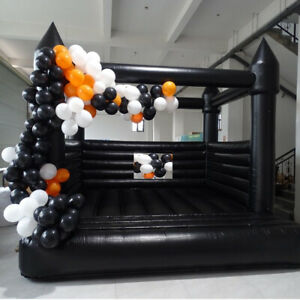 16ft Inflatable Bounce House Wedding Bouncer Castle New Black With Air Blower