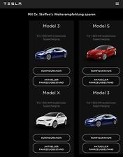 Tesla Model 3 / S / X /.. - Code für kostenloses 1.500 km Laden + 30 € Gutschein