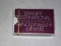 VINTAGE AIRPLANE BRANIFF INTERNATIONAL   SOUVENIR PLAYING CARDS UNOPENED