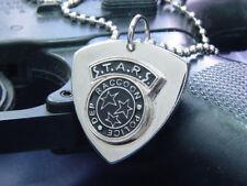 Resident Evil Biohazard RPD STARS Guitar Pick Necklace