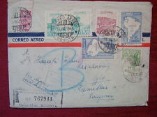 COLOMBIA - BOGOTA TO HUNGARY / RARE REGISTERED AIRMAIL / 1946