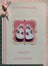 Personalised Christening Day Card: Inc Goddaughter Godson Granddaughter Grandson