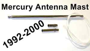 MERCURY AM / FM POWER ANTENNA MAST STAINLESS, With Instructions, Cougar 89-97