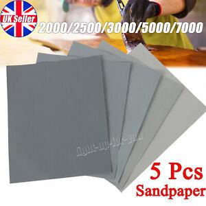 5X Wet Dry Grit Sand Paper 2000 2500 3000 5000 7000 Car Paint Mixed Assorted UK