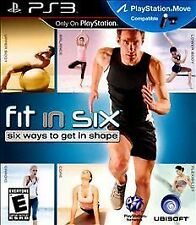 Fit in Six PS3 PlayStation Move Six Ways to Get in Shape