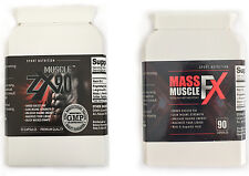 Muscle ZX90 & Mass Muscle FX Strong Bodybuilding Supplements Herbal Natural Gym