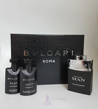 Bvlgari Man Black Cologne by Bvlgari 3 Piece Set