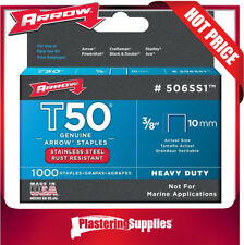 Arrow T50 Stainless Steel Staples 10mm Pack of 1000 506SS1