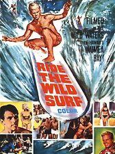 ART PRINT POSTER FILM MOVIE RIDE WILD SURF HAWAII WAIMEA BAY NOFL0600