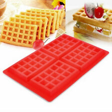 Square Baking Tools Silicone Waffle Mold Muffin Maker Pan Cookie Cake HGUK