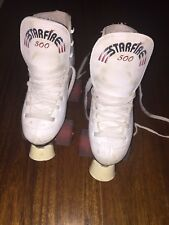 STARFIRE White Leather Roller Skates Size 34. Good condition.