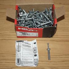 "100 Pack Hilti Metal Drive Anchors 66140, HMH 1/4"" x 1-1/2"" HIT, Fasteners, Box"