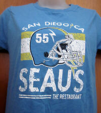 JUNIOR SEAU Restaurant med T shirt San Diego Chargers linebacker 1990s rare tee