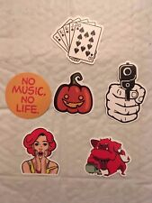 Spade Royal Flush sticker +5 assorted  stickers Laptop,Car Vinyl Decal New