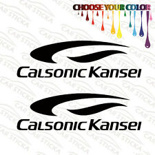 "2 of 8"" Calsonic Kansei Audio /A aftermarket car window bumper stickers decals"