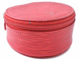 Authentic Louis Vuitton Epi Ecrin Bijoux Jewelry Case Red LV A4998