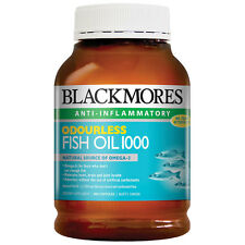 Blackmores Odourless Fishoil 1000mg 400 Capsules Natural Sources of Omega 3s AU