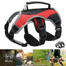 Secure Reflective Dog Harness Large Dogs Walking Harness Vest With Handle Red