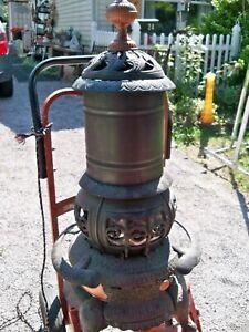 Antique Ornate Art Stove co Cast Iron Parlor Stove Laurel 50 Pat 1894 MICHIGAN