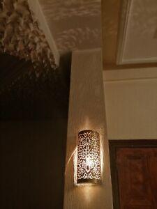 Moroccan wall light Handmade oriental wall lamp Brass night lights Fez Morocco