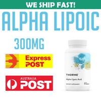 Thorne Research Alpha Lipoic Acid  60 Caps Thiocid 300 mg Antioxidant Support AU