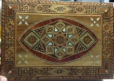 Mosaic Inlay Wood Box From Middle East
