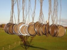 25 Large Metal Rim Hang Tags, coffee stained, blank tags, sized 1 9/16""