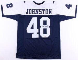 "Daryl ""Moose"" Johnston Signed Dallas Cowboys Jersey (JSA) 3×Super Bowl Champion"