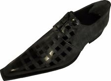 100% Chelsy - Italian Top Design Shoes Hand Made Chess Board Black 42